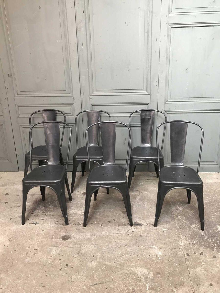 vintage st hle von xavier pauchard f r tolix 6er set bei pamono kaufen. Black Bedroom Furniture Sets. Home Design Ideas