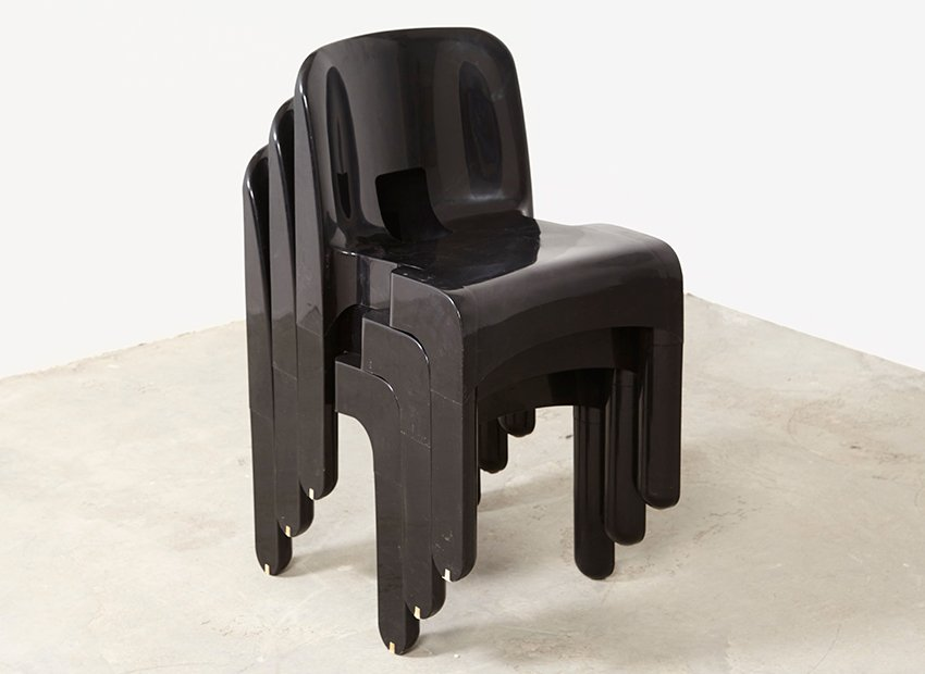 Vintage Universale 4867 Chairs By Joe Colombo For Kartell