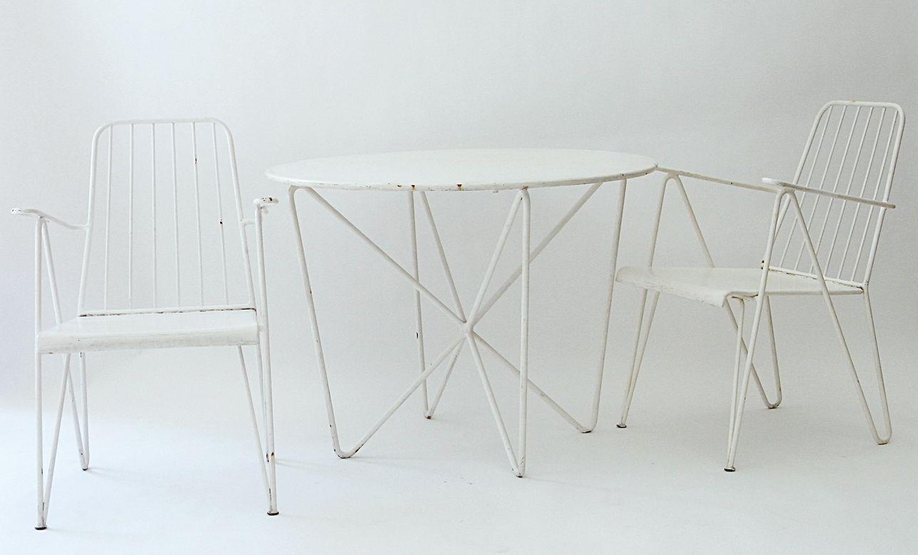 Set de Chaise de Jardin et Table Ronde Vintage, Autriche en vente ...