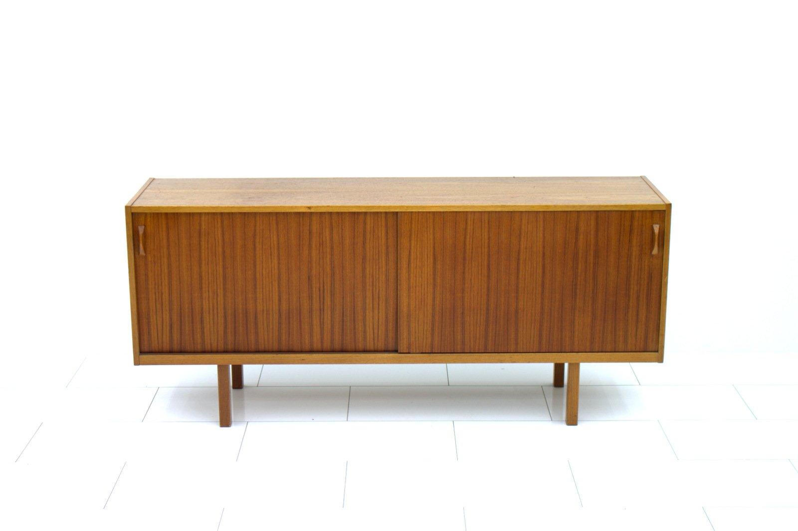 swedish teak sideboard with sliding doors 1960s for sale at pamono. Black Bedroom Furniture Sets. Home Design Ideas