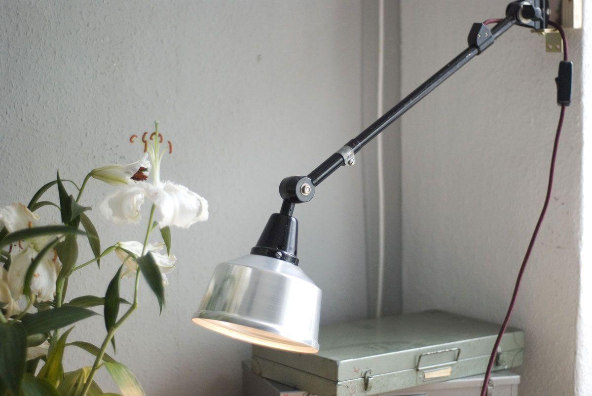 Kleine Vintage R2 Wandlampe von Curt Fischer für Industriewerke Auma