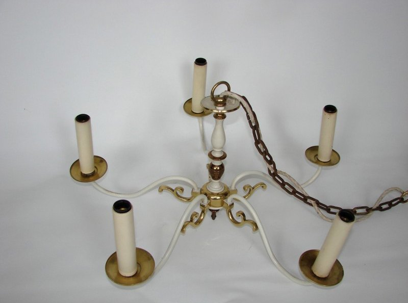 chandelier en laiton de kaiser leuchten 1960s en vente sur pamono. Black Bedroom Furniture Sets. Home Design Ideas