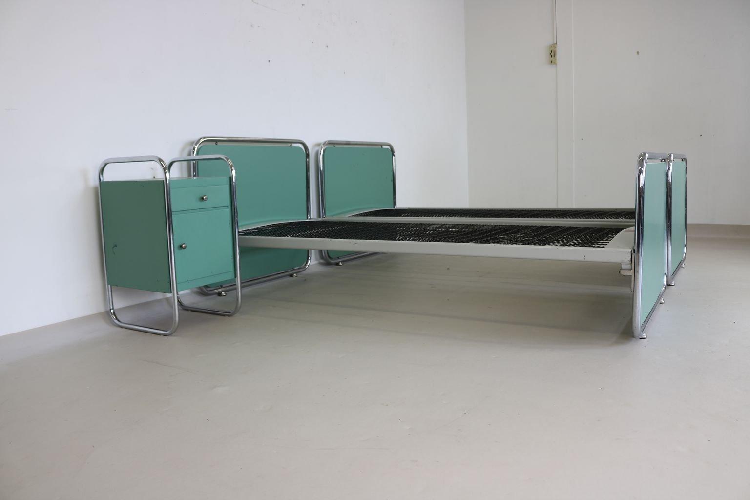 vintage schlafzimmerset aus verchromtem stahlrohr bei pamono kaufen. Black Bedroom Furniture Sets. Home Design Ideas