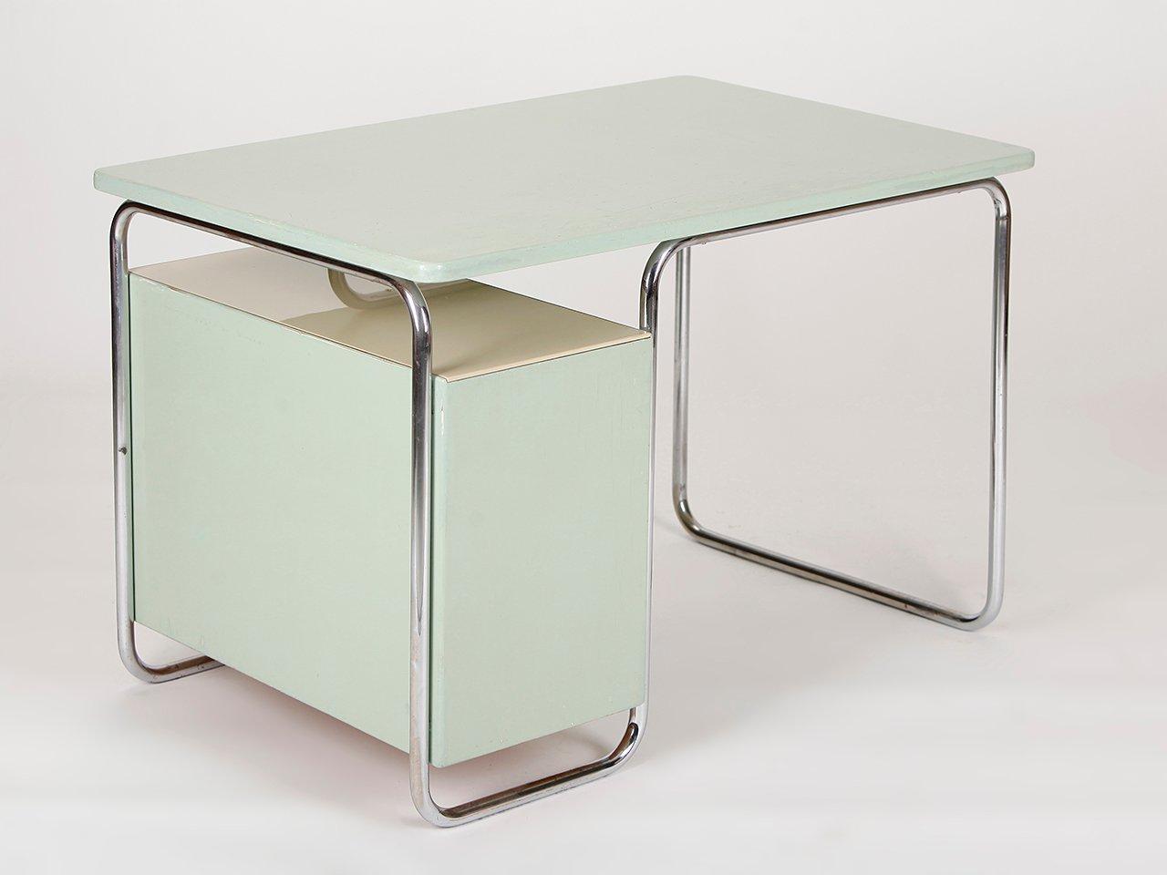 stahlrohr schreibtisch von vichy co 1930er bei pamono kaufen. Black Bedroom Furniture Sets. Home Design Ideas