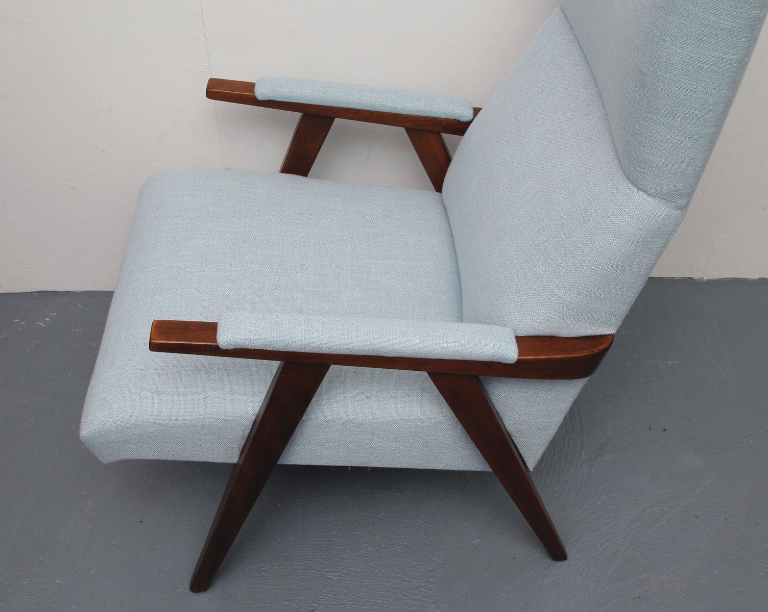 vintage ohrensessel mit hoher r ckenlehne 1950er bei pamono kaufen. Black Bedroom Furniture Sets. Home Design Ideas
