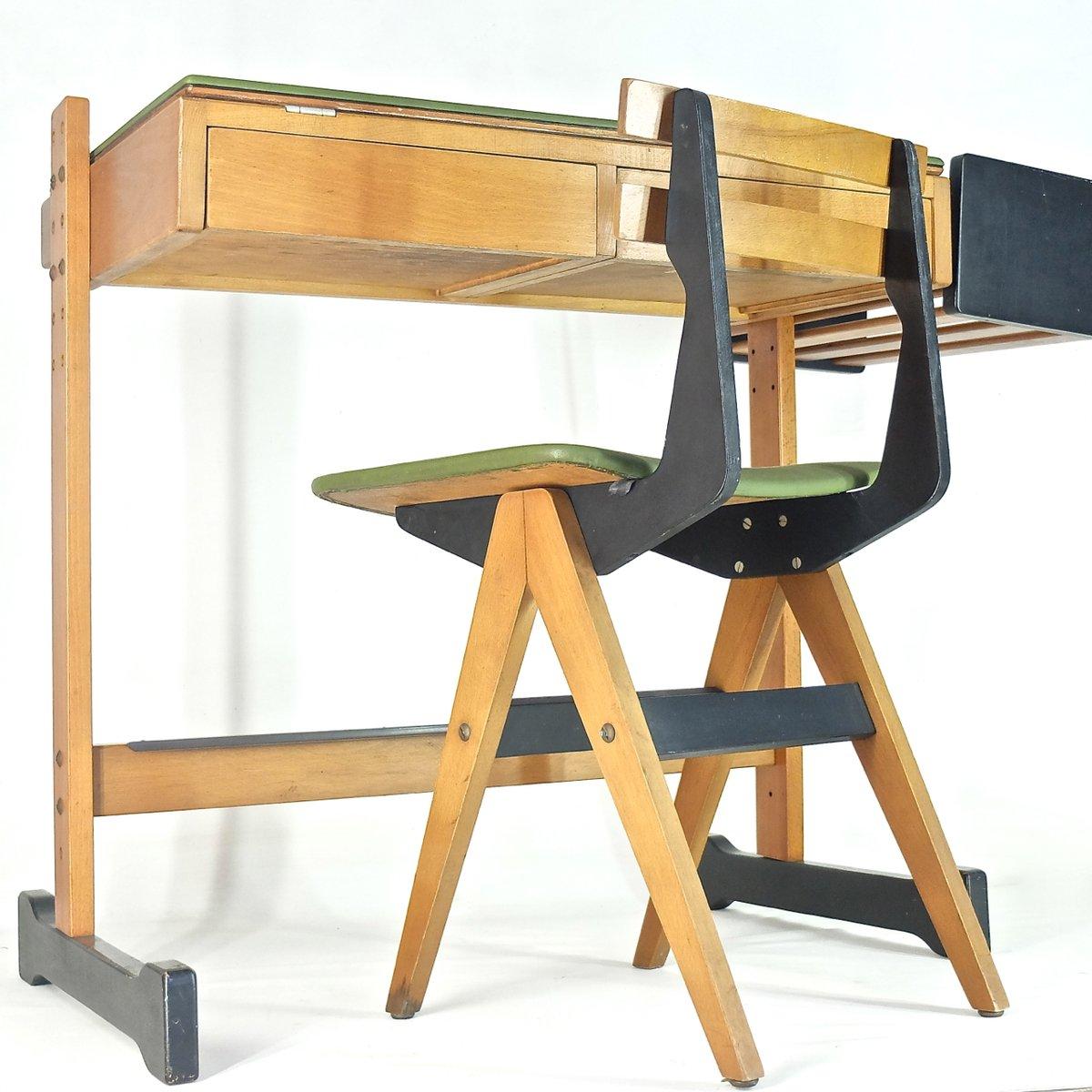kinderschreibtisch stuhl von fratelli reguitti 1955 bei pamono kaufen. Black Bedroom Furniture Sets. Home Design Ideas