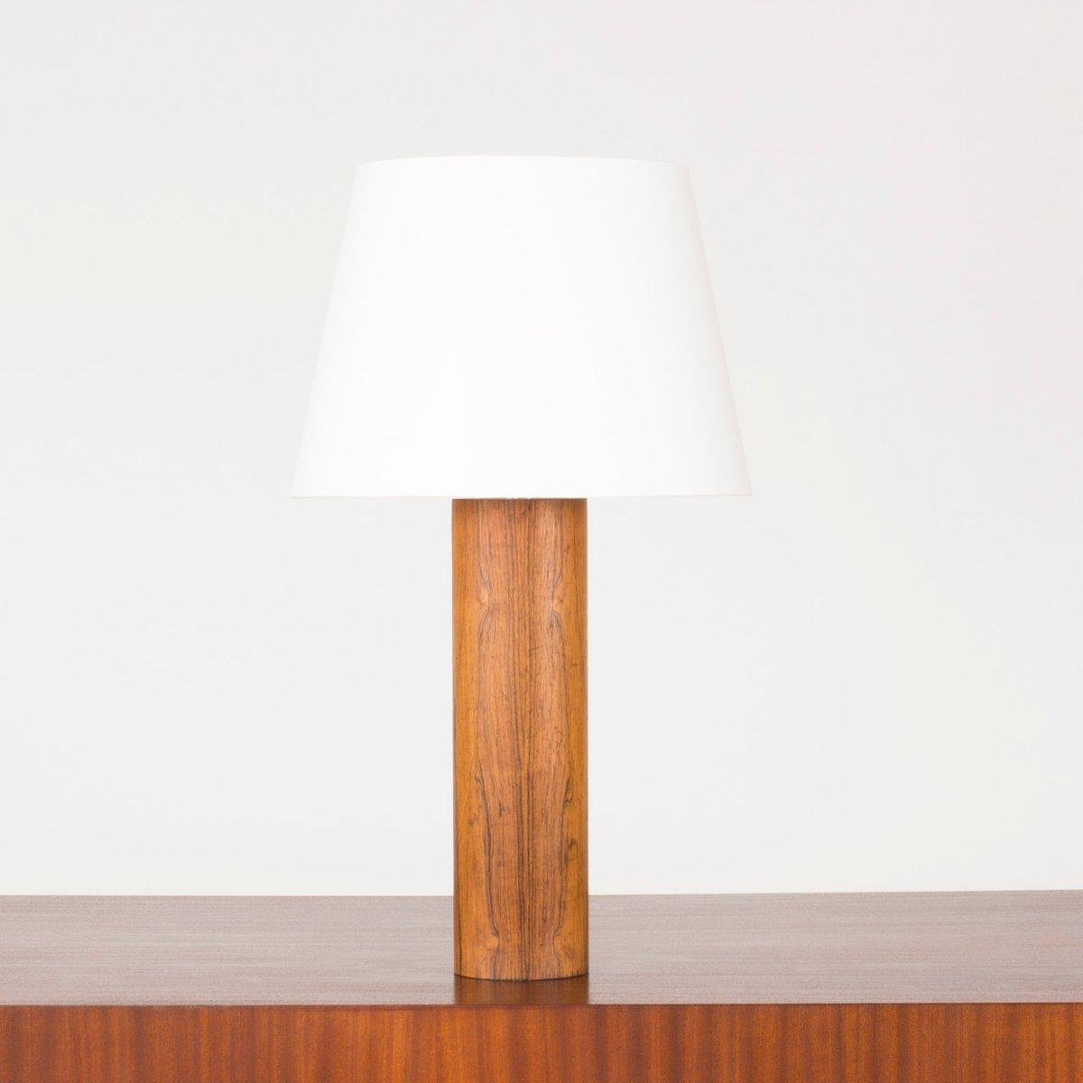 Palisander Tischlampe von Uno & Östen Kristiansson für Luxus, 1960er