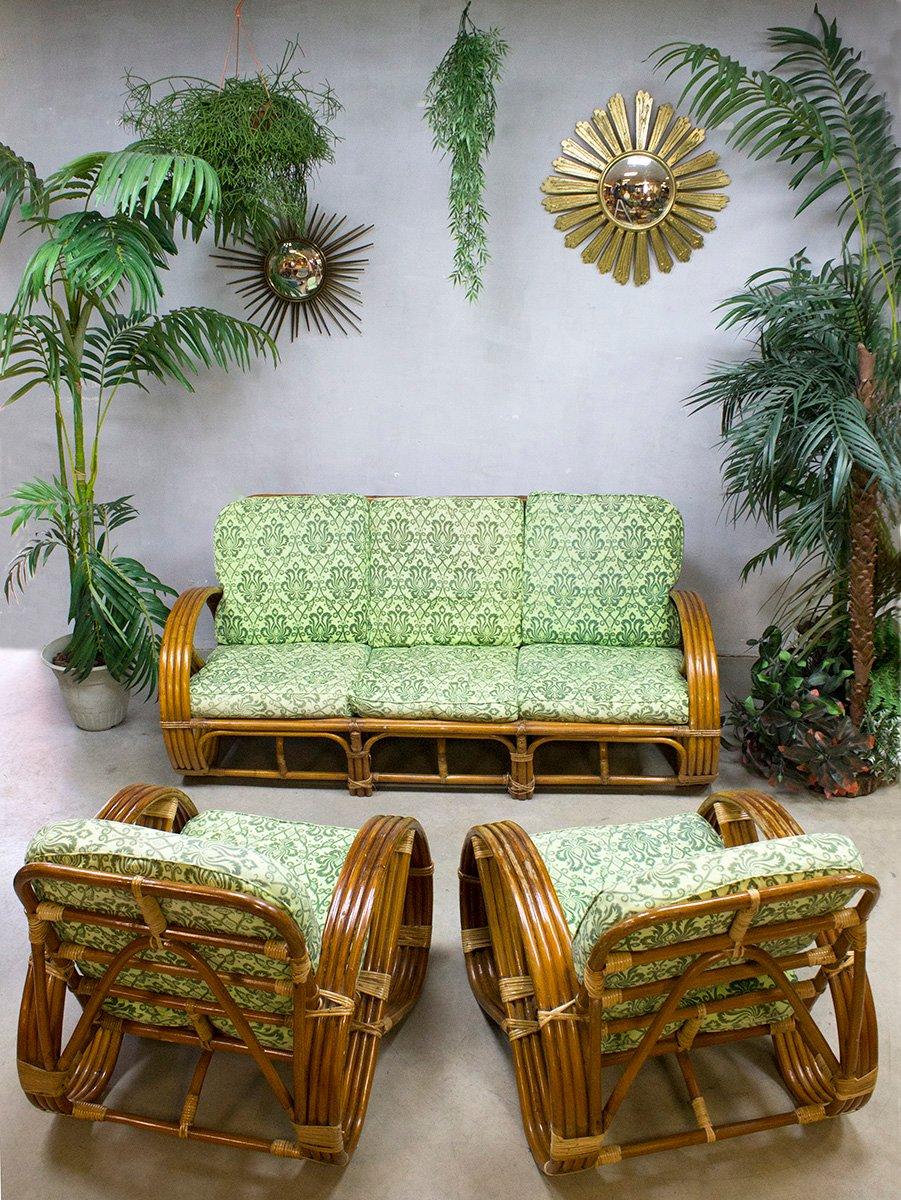 canap lounge vintage en rotin et bambou de roh noordwolde en vente sur pamono. Black Bedroom Furniture Sets. Home Design Ideas