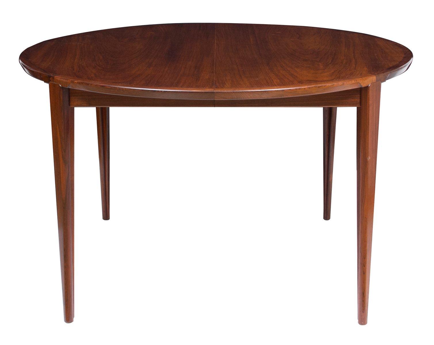 Table de salle manger en palissandre par henry rosengren for Table de salle a manger en solde