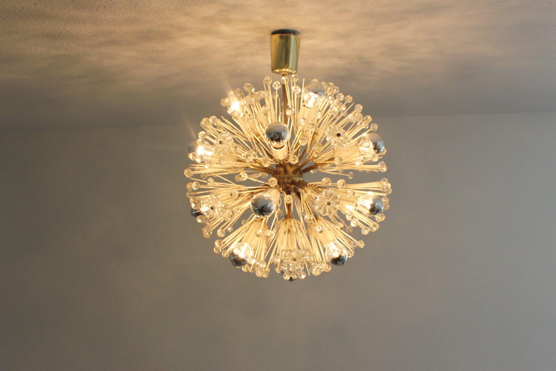 lampe sputnik dandelion par emil stejnar pour rupert nikoll, 1960s