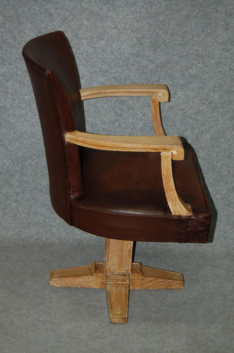 Art Deco Leather Office Chair 1930s For Sale At Pamono