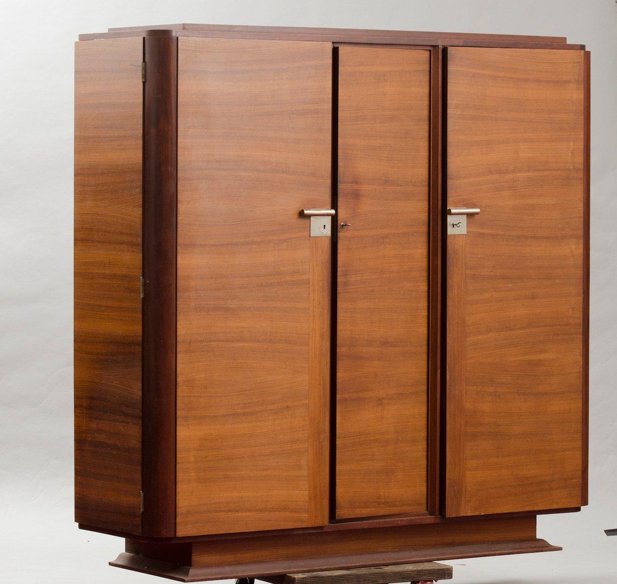 meuble de rangement art d co vintage en contreplaqu de palissandre en vente sur pamono. Black Bedroom Furniture Sets. Home Design Ideas