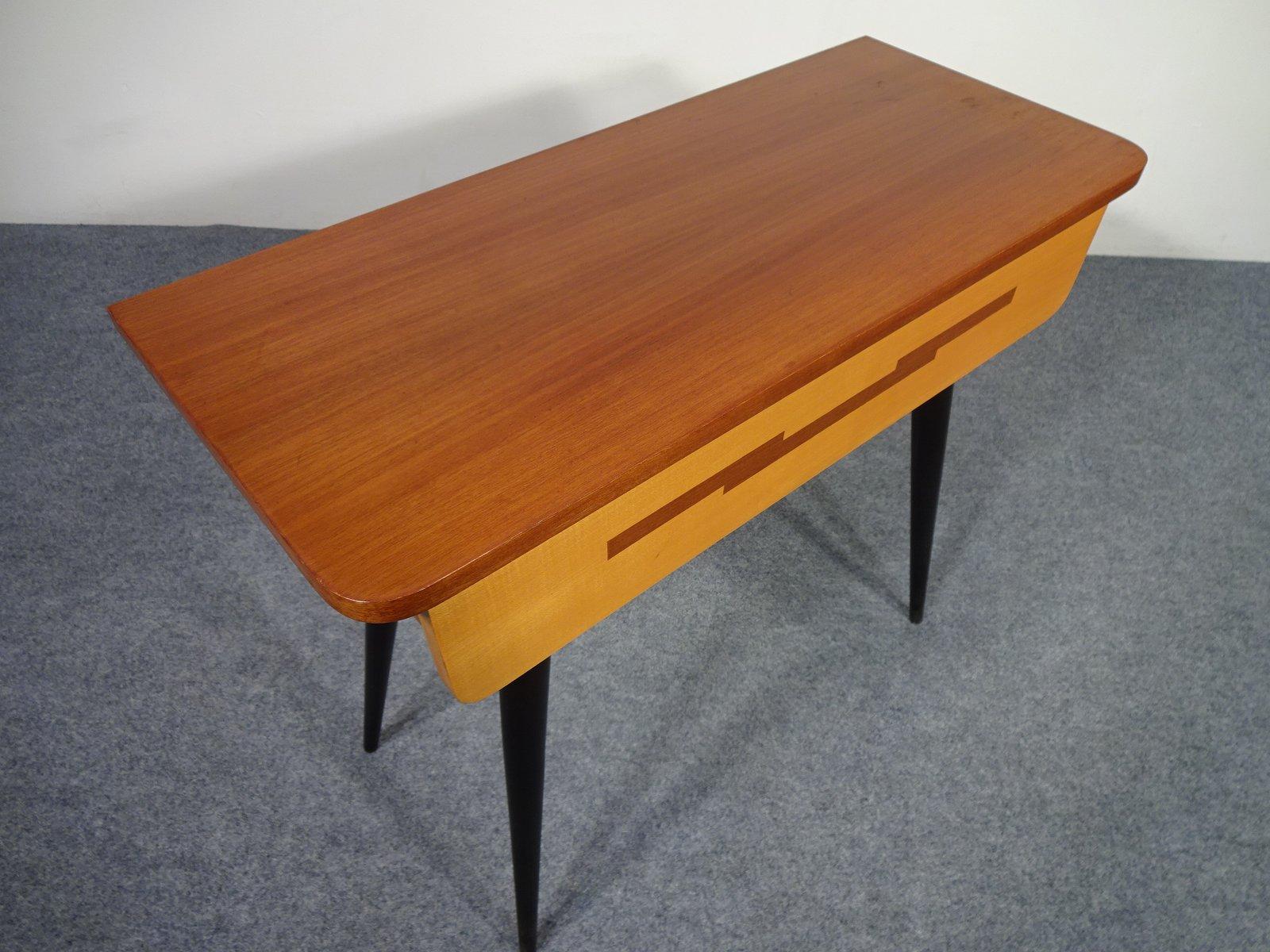 Kleiner tisch mit schublade von diele und flur 1950er bei for Tisch mit schublade