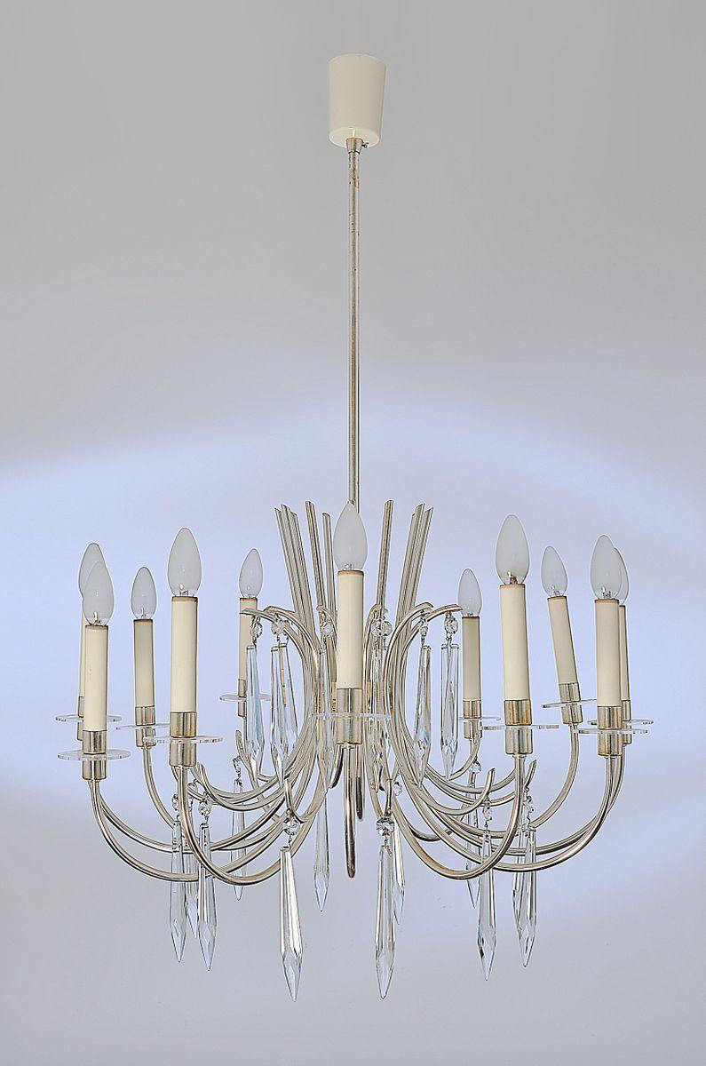 Deckenlampe von Vereinigte Werkstätten, 1950er