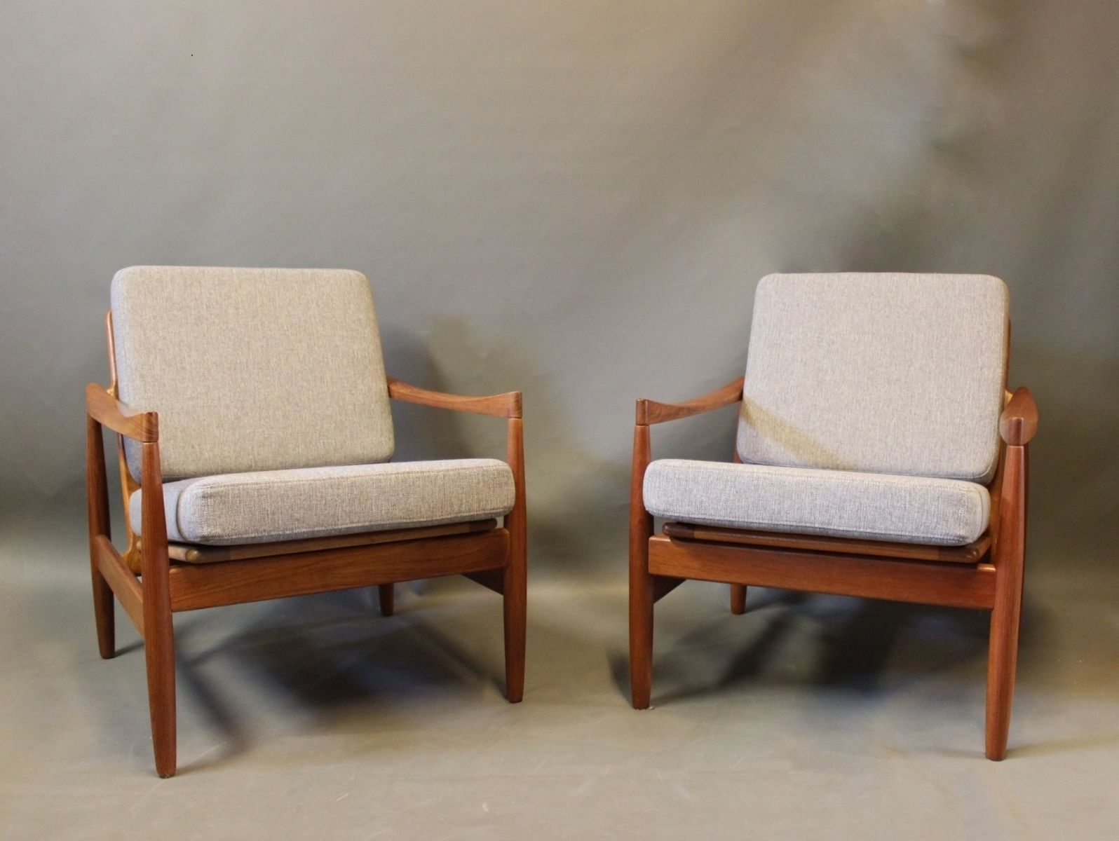 Teak Sessel von Kai Kristiansen für Skive Møbelfabrik, 1960er, 2er Set