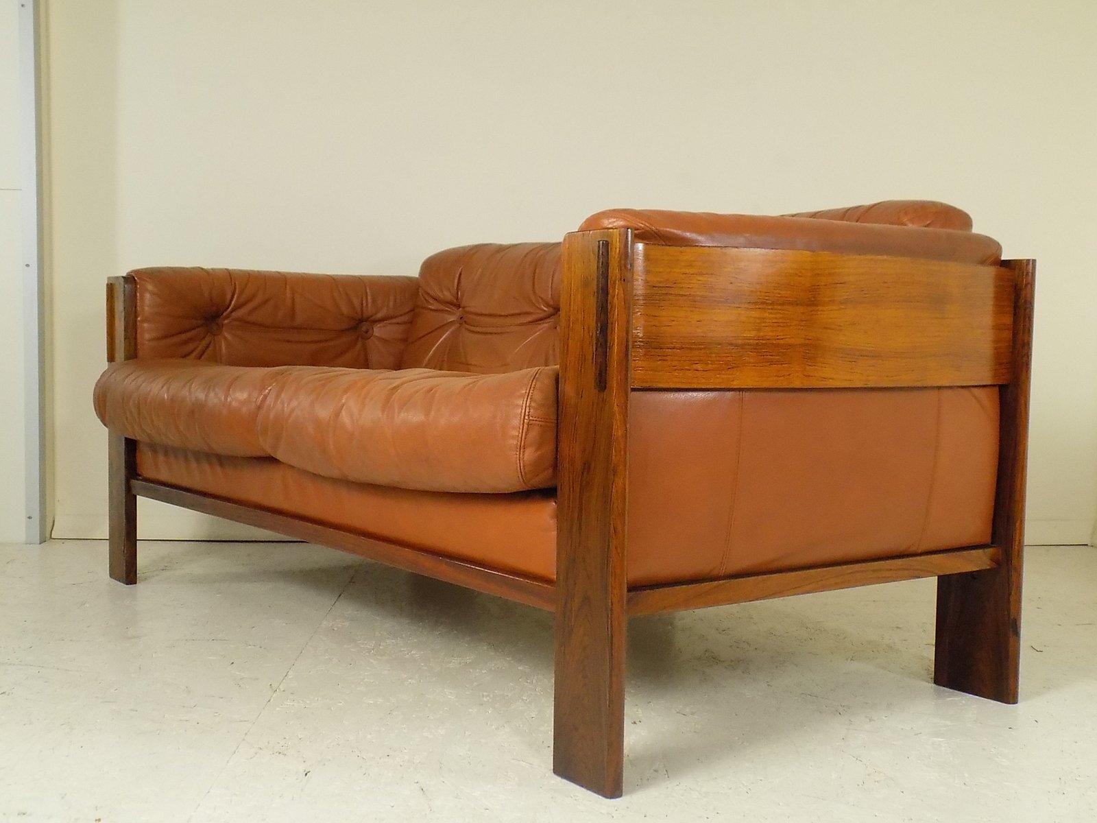 d nisches leder palisander sofa 1960er bei pamono kaufen. Black Bedroom Furniture Sets. Home Design Ideas