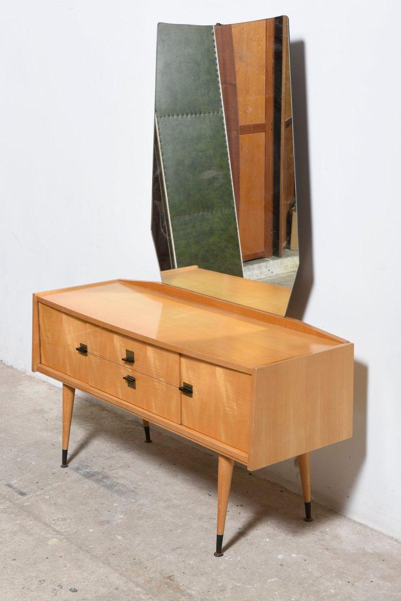 Holz Frisiertisch, 1950er