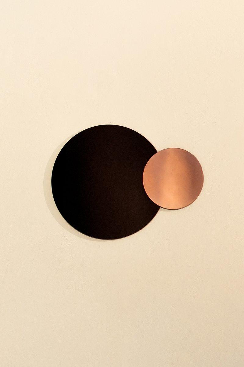 miroir mural constructiviste moderne rond en cuivre poli par nina cho en vente sur pamono. Black Bedroom Furniture Sets. Home Design Ideas