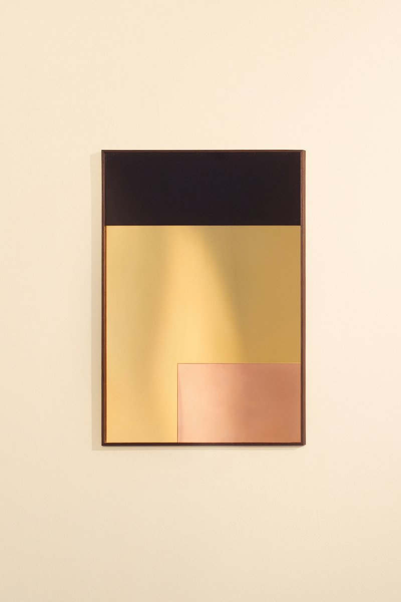 Constructivist Rectangle Modern Wall Mirror in Polished Copper by ...