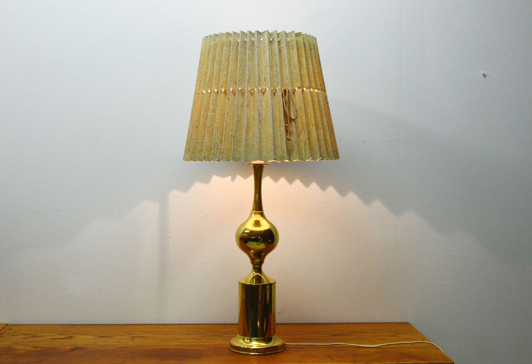 Schwedische Messing Tischlampe, 1970er