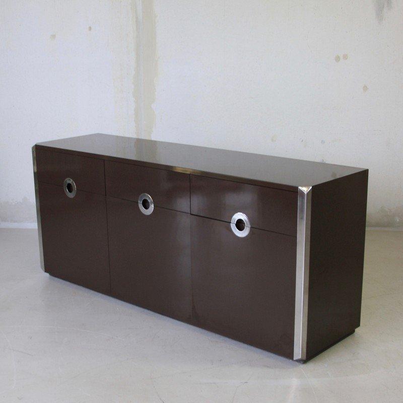 Vintage Sideboard mit Drei Türen von Willy Rizzo für Mario Sabot, 1972