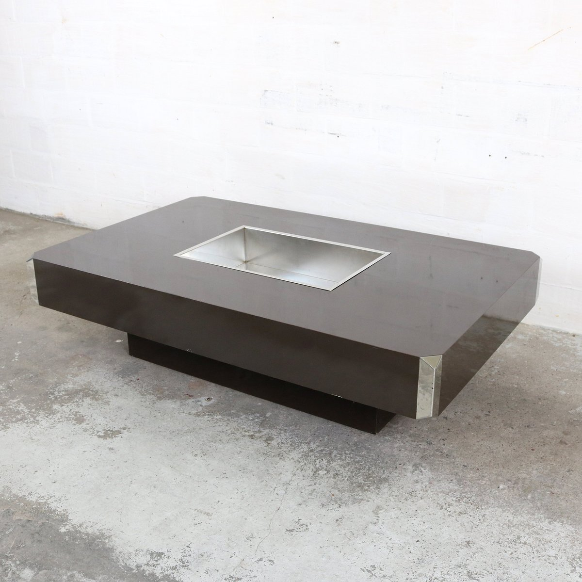 Table basse alveo vintage par willy rizzo pour mario sabot for Mobili willy rizzo