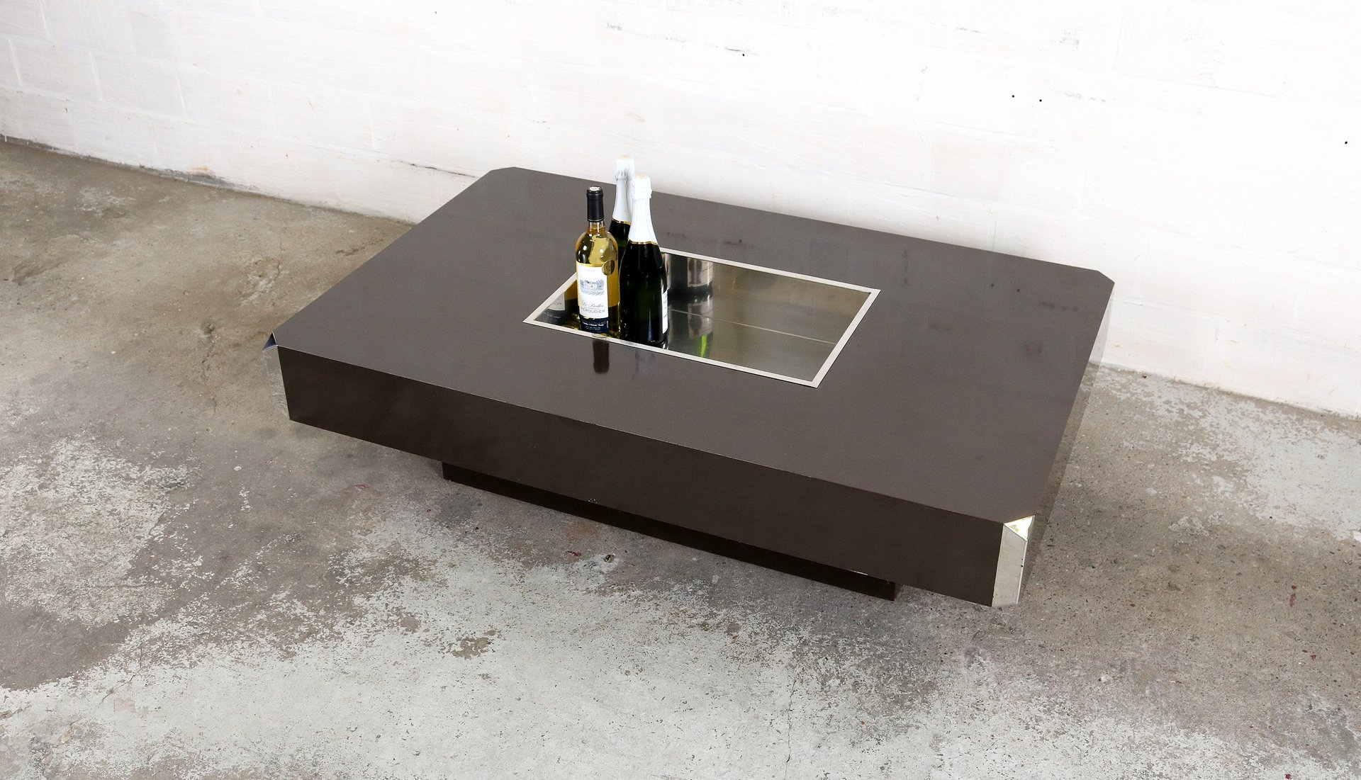 table basse alveo vintage par willy rizzo pour mario sabot en vente sur pamono. Black Bedroom Furniture Sets. Home Design Ideas