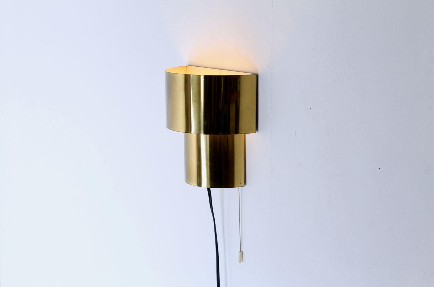 Mid-Century Messing Wandlampen von J. J. M. Hoogervorst für Anvia, 2er...