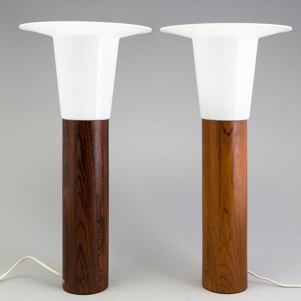 Skandinavische Palisander Tischlampen von Uno & Osten Kristiansson für...