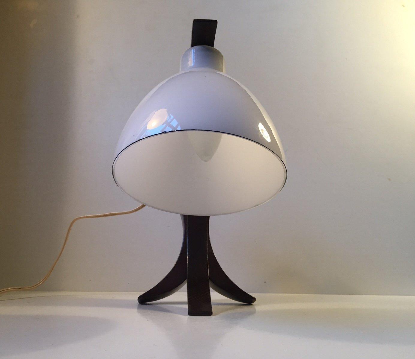 lampe de bureau mid century moon hybrid en ch ne et verre opalin allemagne 1950s en vente sur. Black Bedroom Furniture Sets. Home Design Ideas