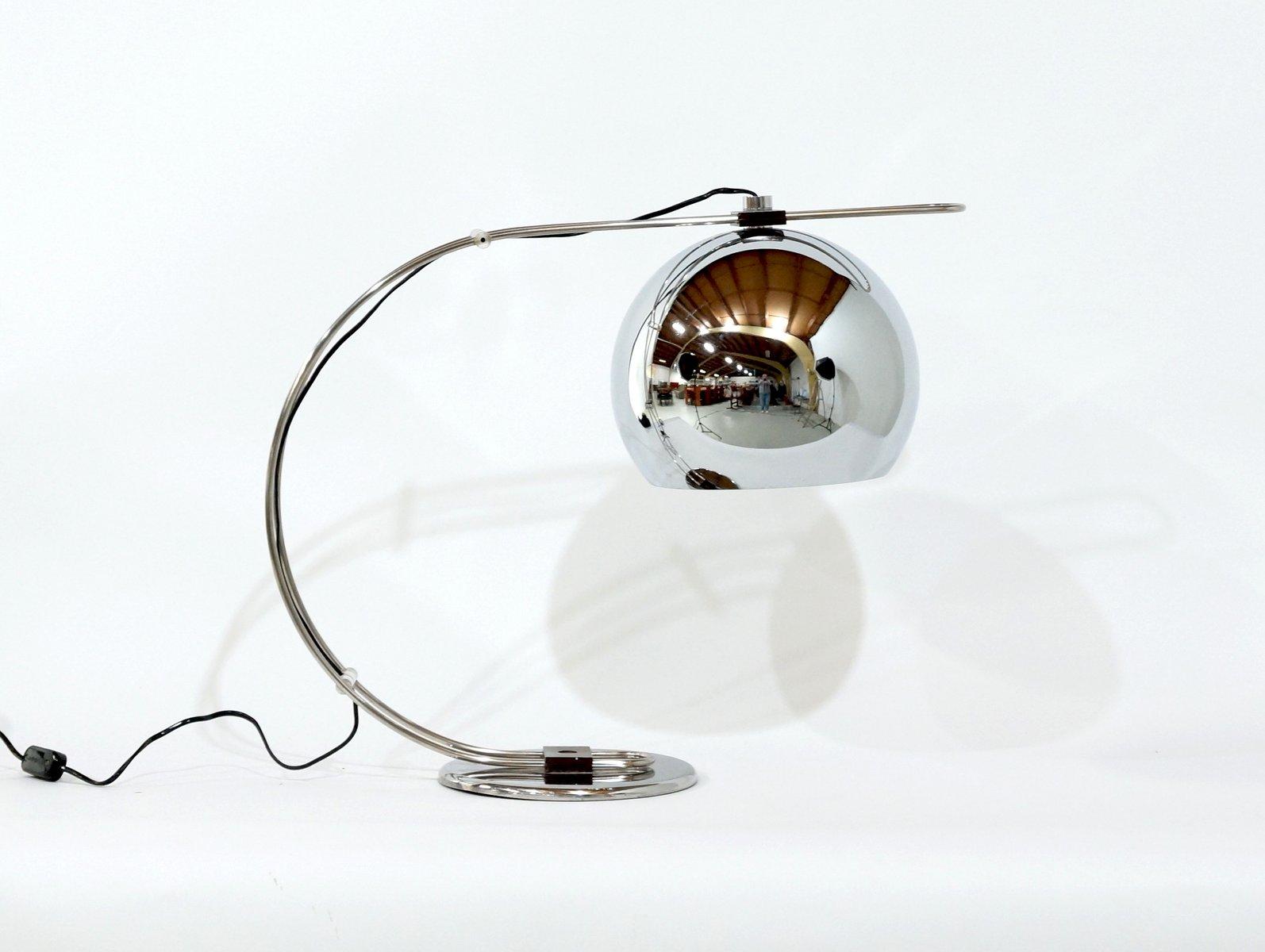 Italienische Chrom Tischlampe, 1970er
