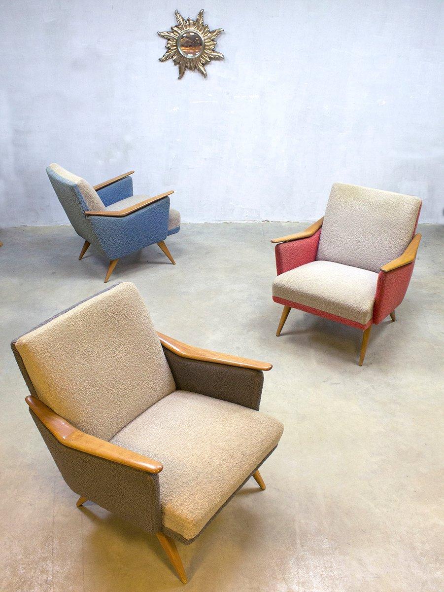 Bunte Sessel, 1960er, 3er Set