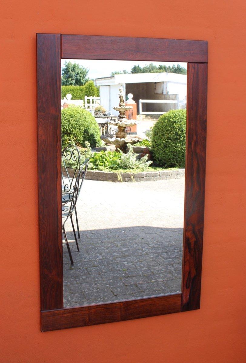spiegel mit breitem rahmen aus palisander 1960er bei pamono kaufen. Black Bedroom Furniture Sets. Home Design Ideas