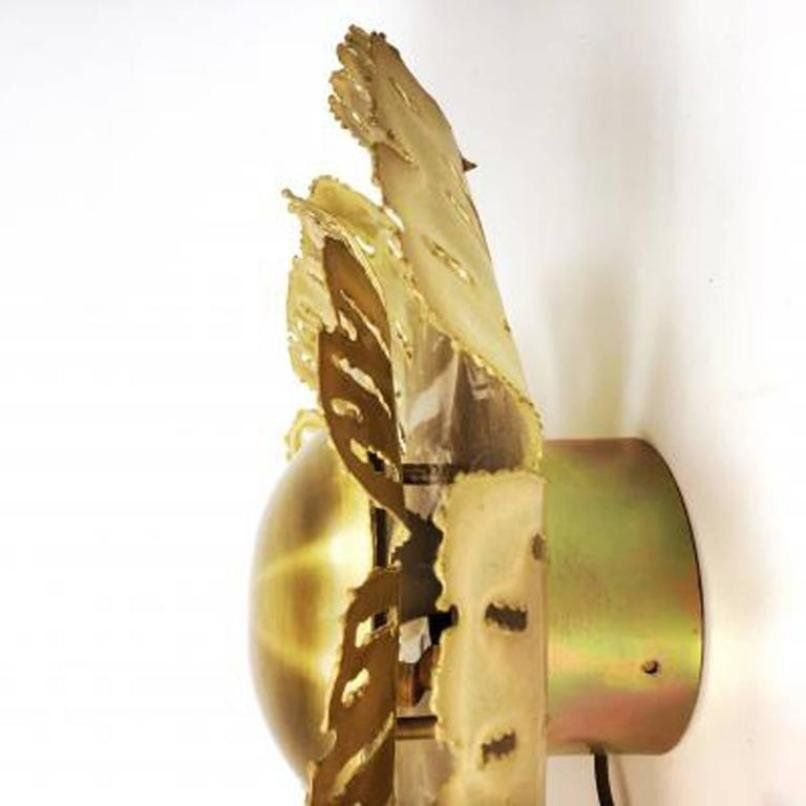 Large Mid-Century Brutalist Danish Flower Wall Sconce by Svend Aage ...