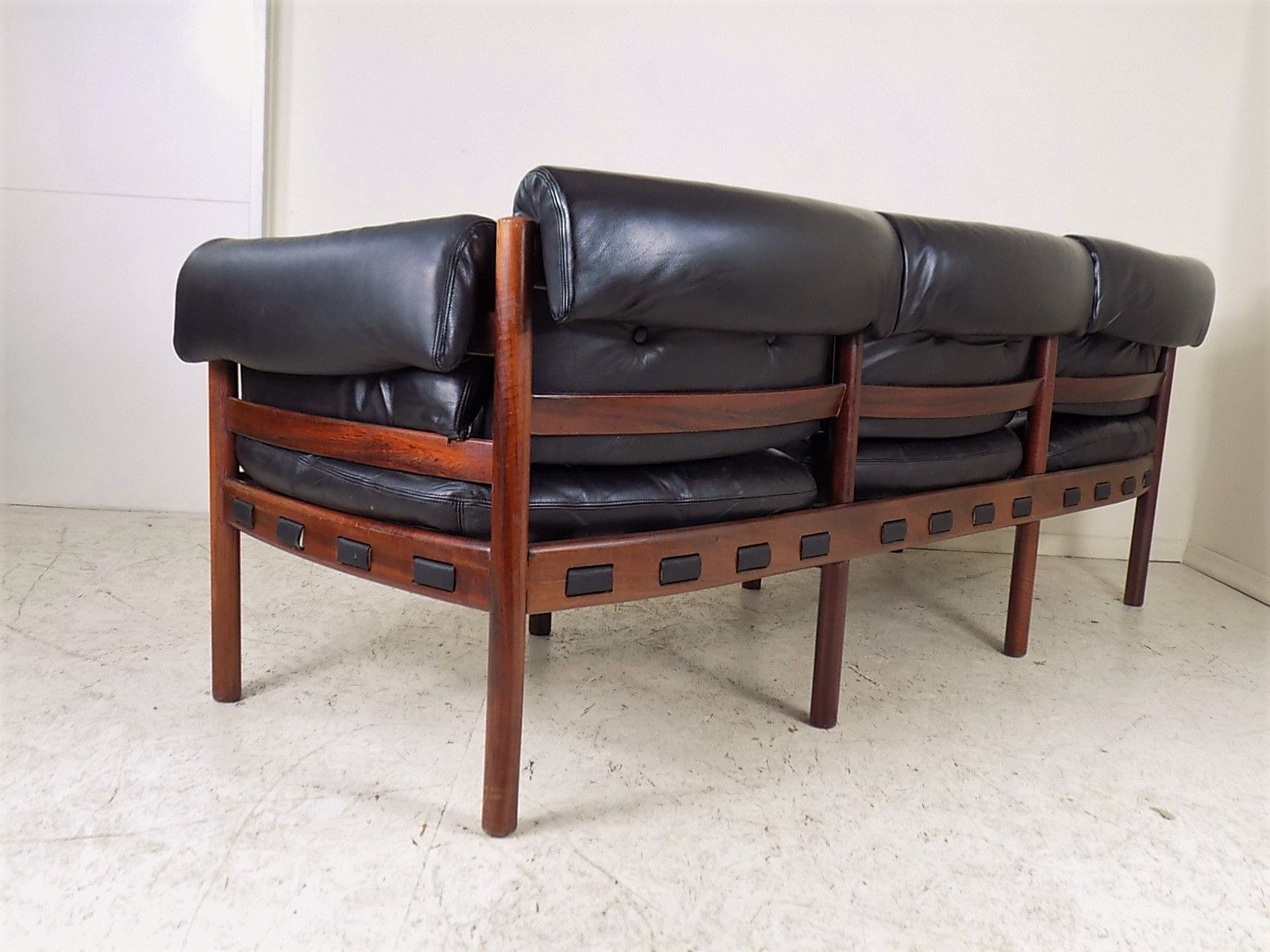 Rosewood And Leather Sofa From Coja 1960s For Sale At Pamono