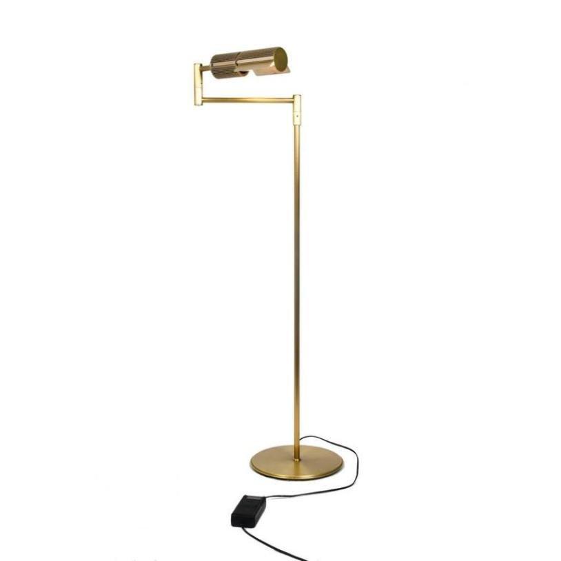 Messing Stehlampe von Swisslamps International, 1960