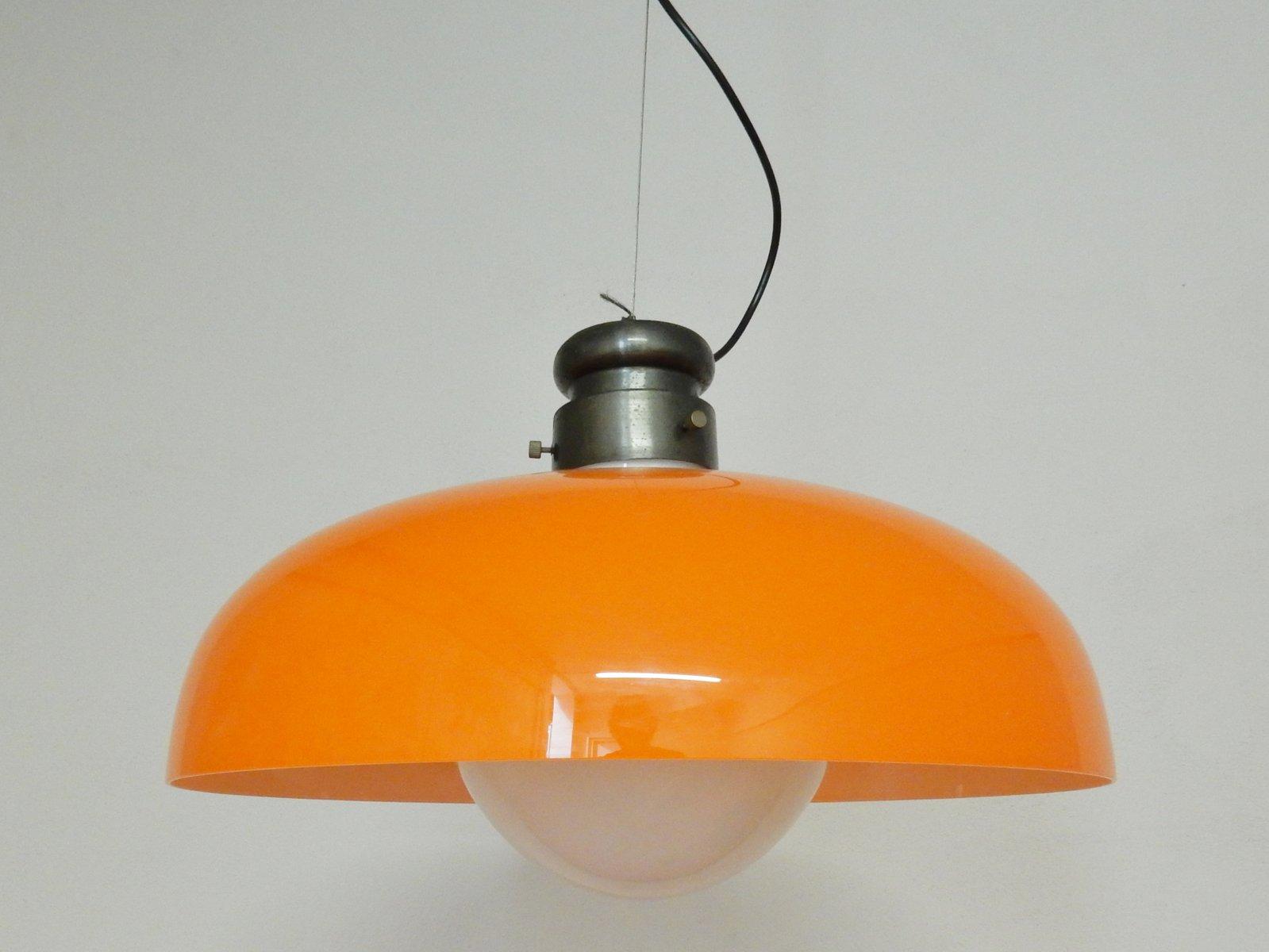 Orange Hängelampe von Gino Vistosi für Vistosi, 1970er