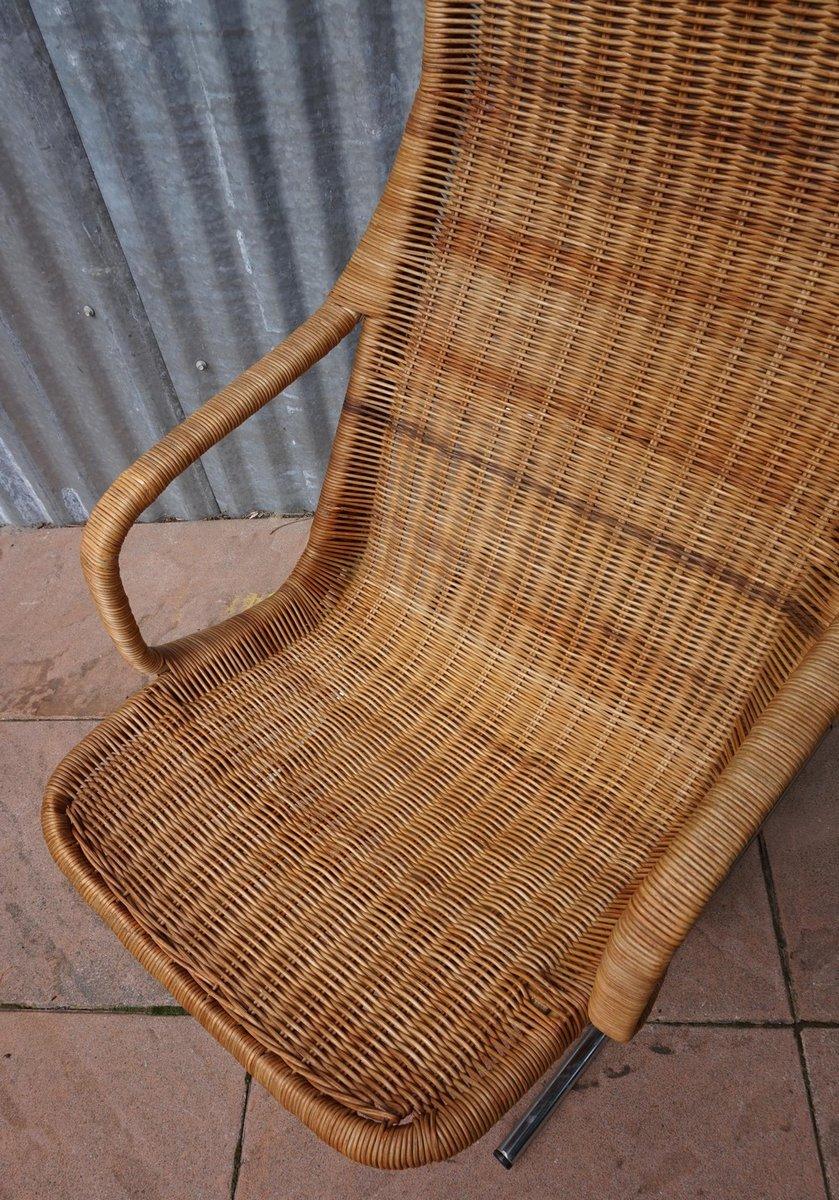Chaise longue mid century en rotin par dirk van sliedregt pour jonkers en vente sur pamono - Chaise longue en anglais ...