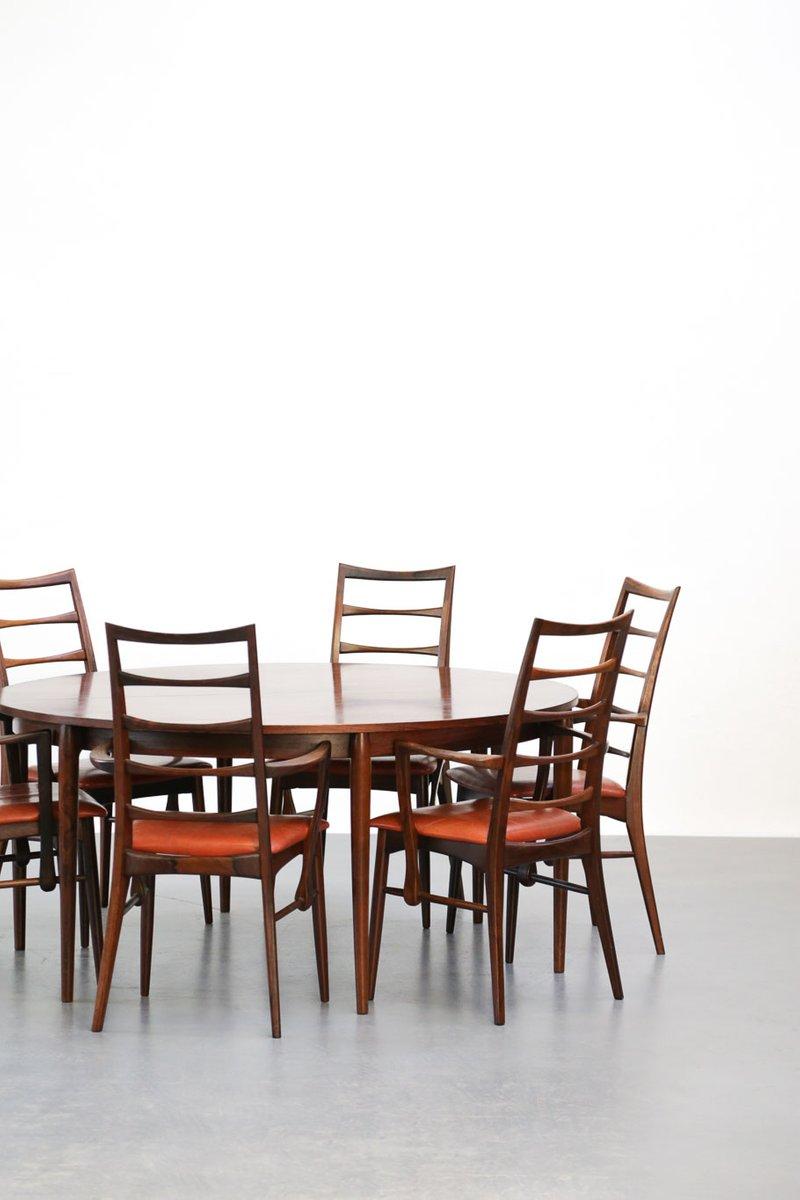 d nischer vintage palisander tisch und 6 st hle von niels koefoed bei pamono kaufen. Black Bedroom Furniture Sets. Home Design Ideas
