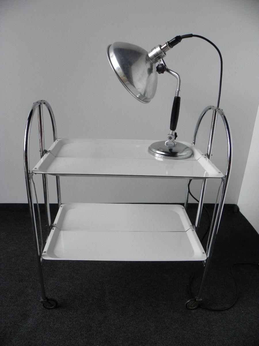 Industrielle Tischlampe von Kurt Rosenthal, 1940er