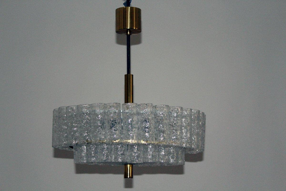chandelier en verre de doria 1960s en vente sur pamono. Black Bedroom Furniture Sets. Home Design Ideas