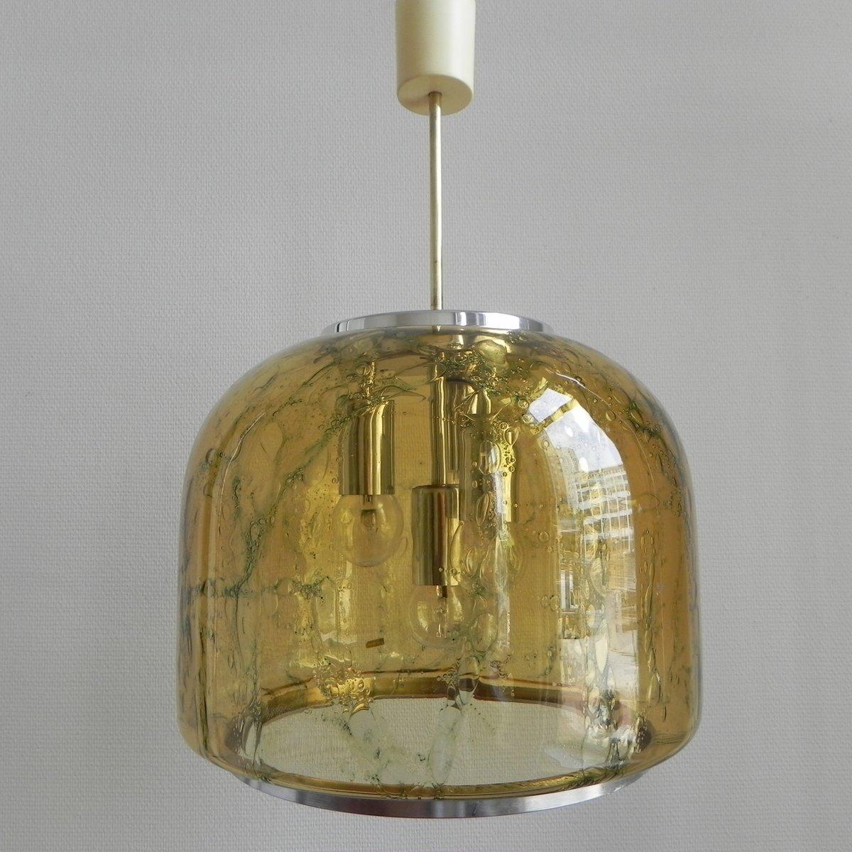 ?Vintage Hängelampe mit Großer Glasleuchte von Doria Leuchten