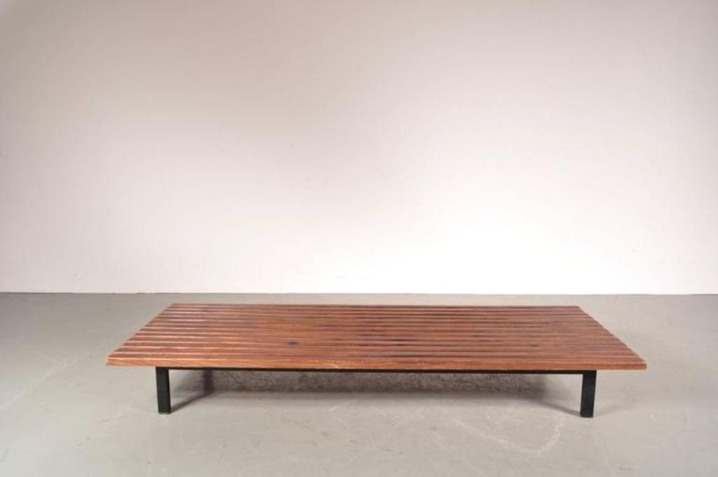 eiche lamellen bank von charlotte perriand f r galerie steph simon 1950er bei pamono kaufen. Black Bedroom Furniture Sets. Home Design Ideas