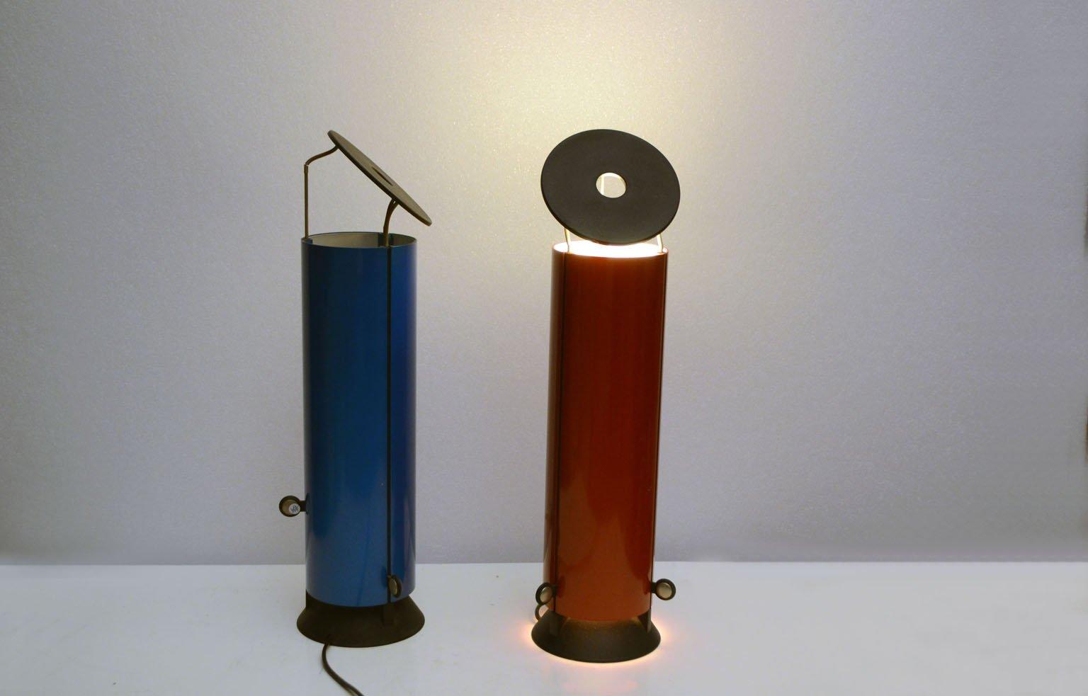 Modell Sax Tischlampen von Paolo Cassai für Sirrah, 1975, 2er Set