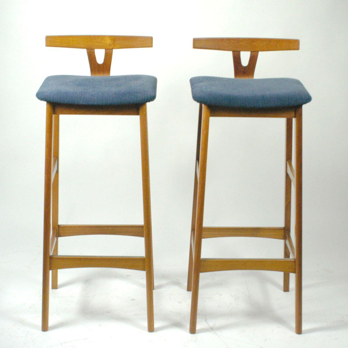 tabouret de bar en teck par knud bent pour dyrlund danemark 1960s en vente sur pamono. Black Bedroom Furniture Sets. Home Design Ideas