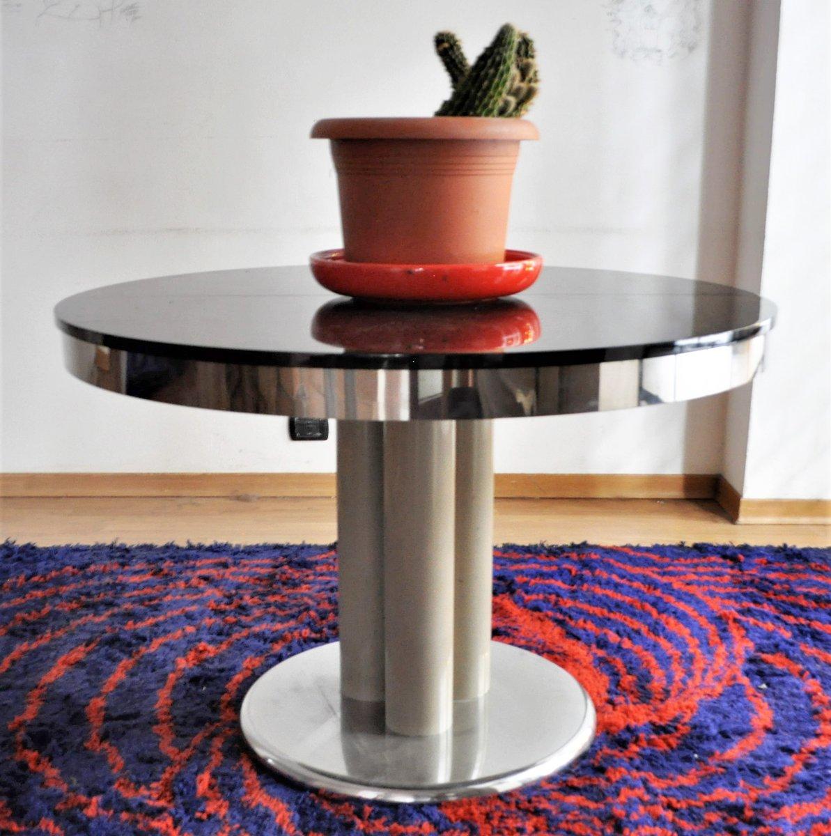 table de salle manger noire 1970s en vente sur pamono. Black Bedroom Furniture Sets. Home Design Ideas