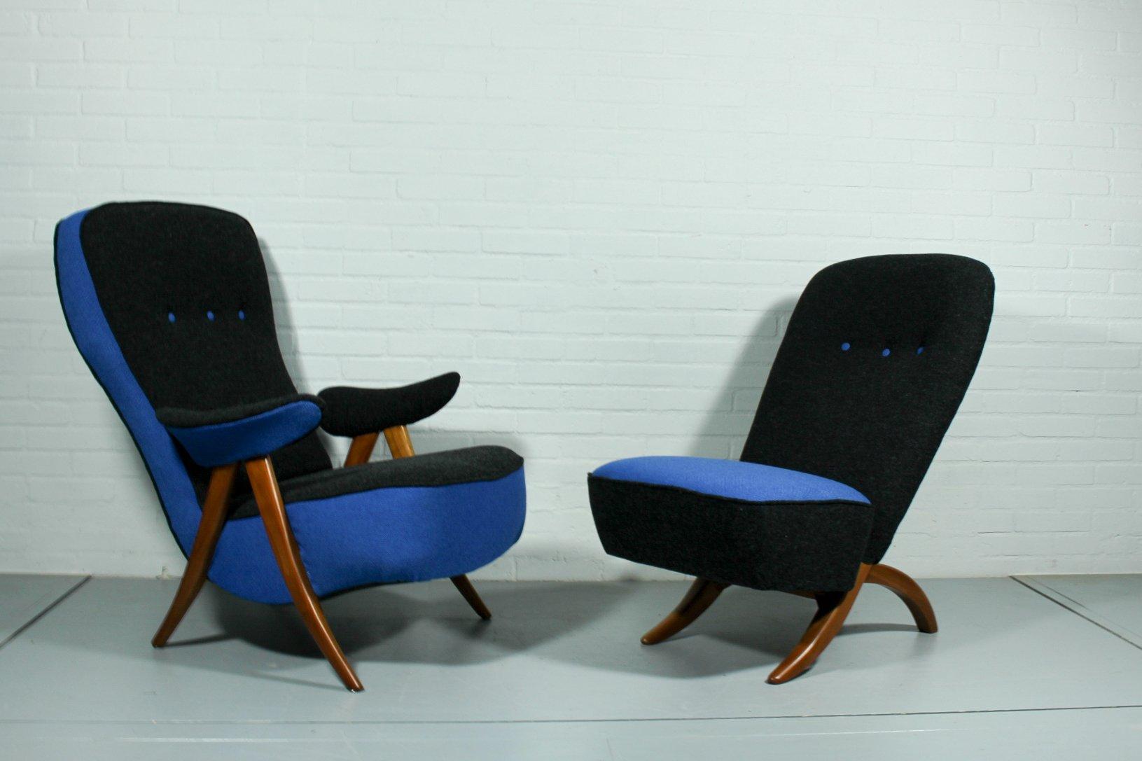 Mid-Century Modell 107 & Congo Sessel von Theo Ruth für Artifort, 2er ...