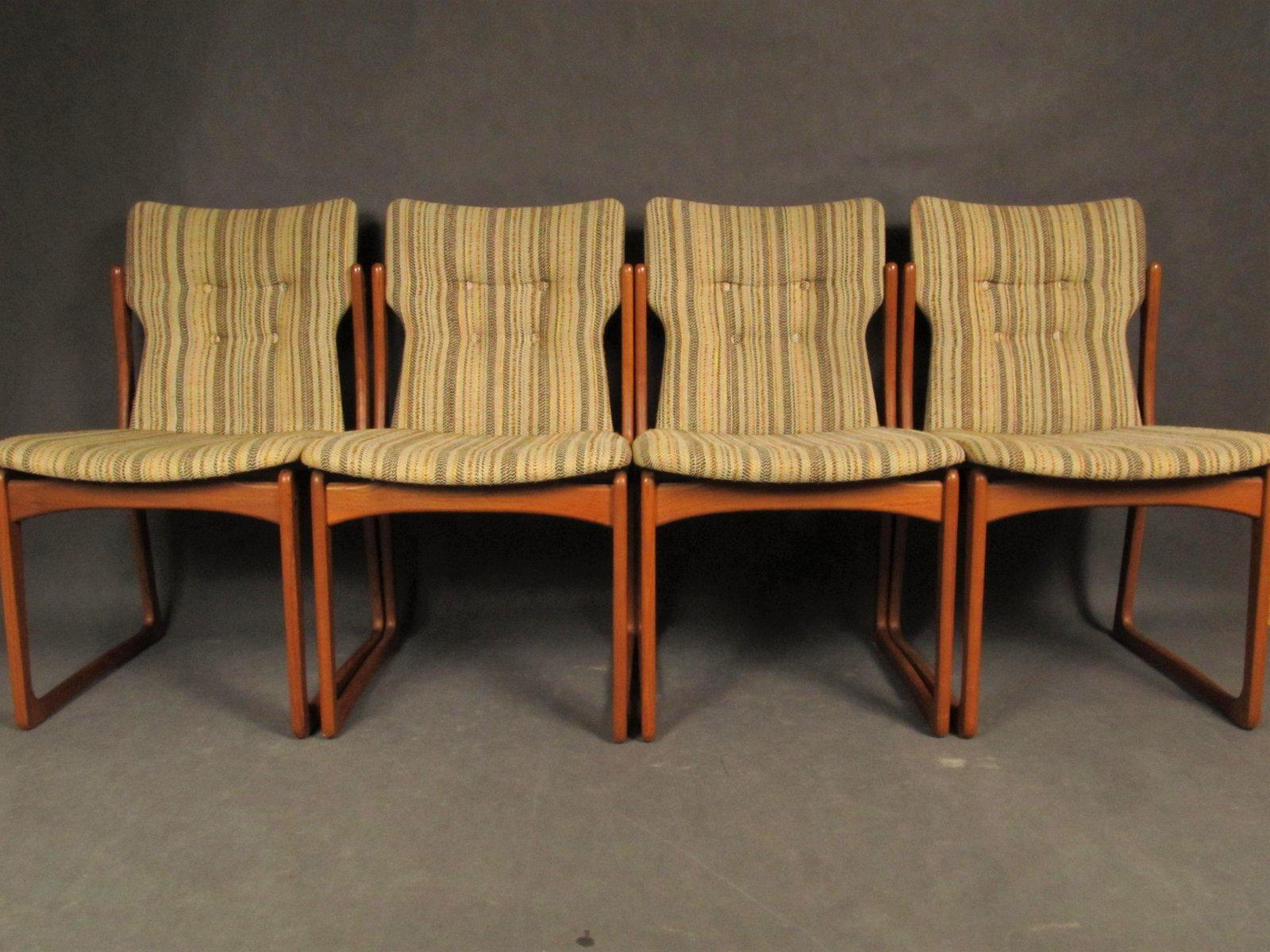 Mid-Century Dining Room Chairs from Vamdrup Stolefabrik, 1960s, Set ...