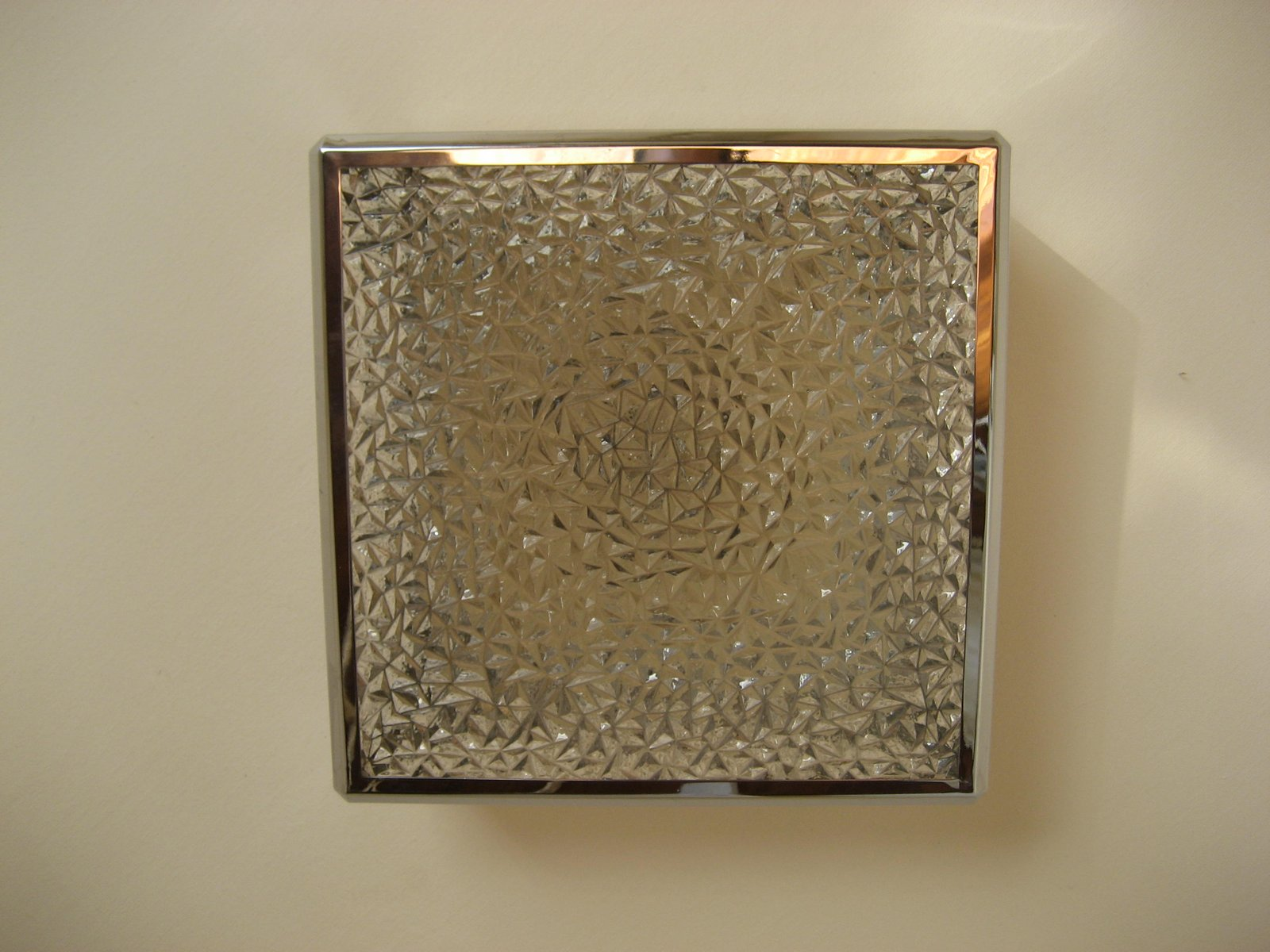 Vintage Ceiling Lamp With Plastic Sheets In Chrome Frame For Sale At