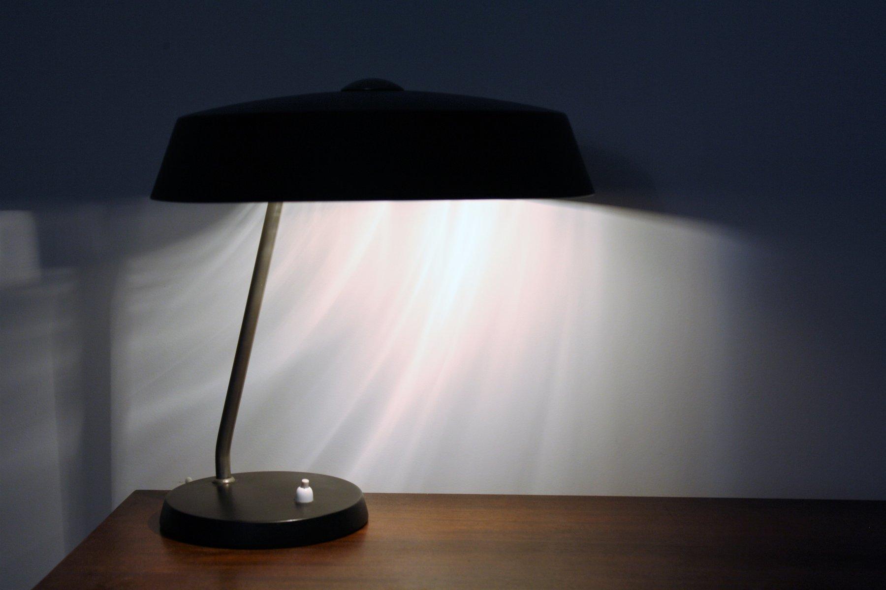lampe de bureau noire vintage par louis kalff pour philips 1960s en vente sur pamono. Black Bedroom Furniture Sets. Home Design Ideas